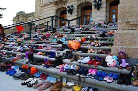 Poetry with Purpose – Residential Schools – Little Shoes on the Steps of the Legislature